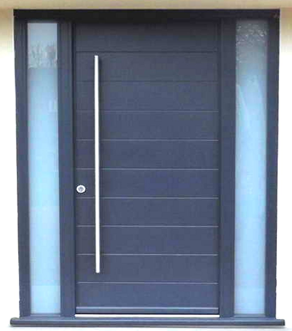 Modern front doors black - 48 Exterior Door Large Wood Door