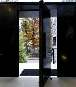 modern exterior pivot door slab