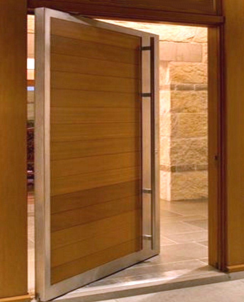 Pivot door modern doors for sale for Types of wood doors are made of