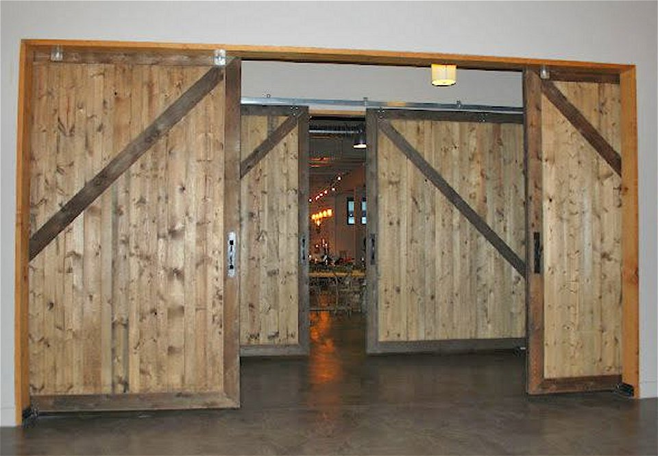 10 x 10 non warping large wood sliding barn doors modern for Oversized exterior doors for sale