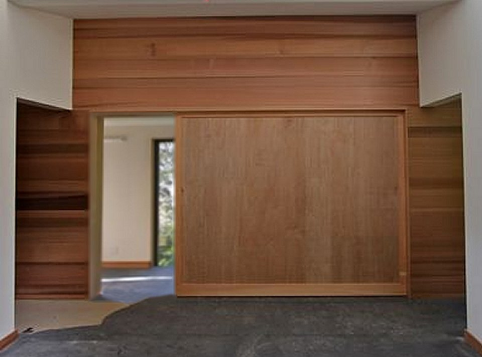 15 ft x 9 ft wood double sliding door modern doors for for Wooden sliding doors