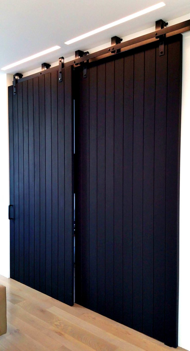 interior barn doors sliding barn doors black oak insulated sliding wall panels